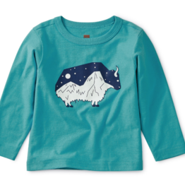 Tea Collection Glow In the Dark Baby Yak Tee 3/6-9/12M