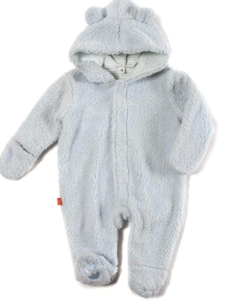 Bears Blue Sorbet Fleece Pram 9M-12M