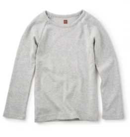 Tea Collection Ribbed Purity Tee Med Heather 5-6