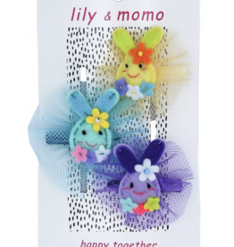 Lily & Momo Cotton Tail Trio Hair Clips