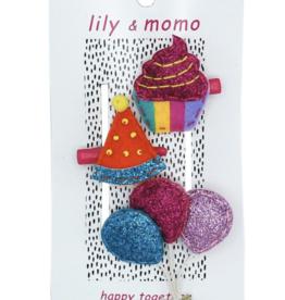 Lily & Momo Party Time Trio Tangerine/Glitter/Raspberry