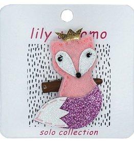 Lily & Momo Friendly Fox Hair Clip Pk Rose