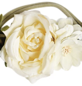 Bailey's Blossoms Classic Ivory Floral Stretch Headband