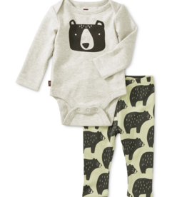 Tea Collection Bodysuit Baby Outfit Cuddly Cubs 0/3-6/9M