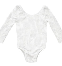 Bailey's Blossoms Lace White Leotard 3T