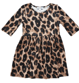 Bailey's Blossoms Leopard Pleated Dress 2-4T