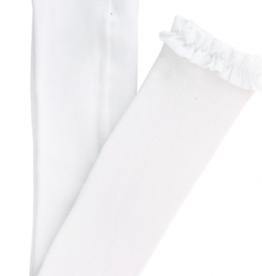 Ruffle Butts Footless Ruffle Tights White 0/6-12/24M