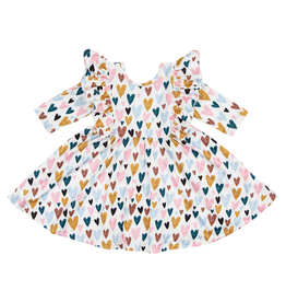 Mila & Rose Ruffle Twirl Dress I Heart You 7/8