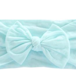 Mila & Rose Nylon Bow Headwrap Aqua