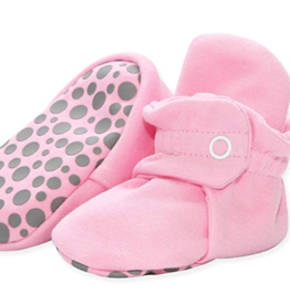 Zutano Cotton Gripper Bootie Hot Pink 3M, 6M