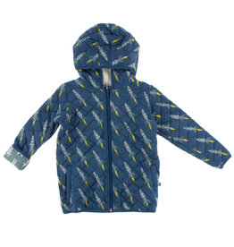 Kickee Pants Quilted Jacket Twilight Rockets 2T
