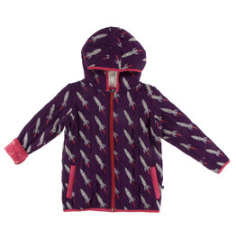 Kickee Pants Quilted Jacket Wine Rocket 2-4T