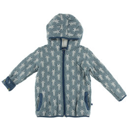Kickee Pants Quilted Jacket Dusty Sky Astronaut  XS(5/6)