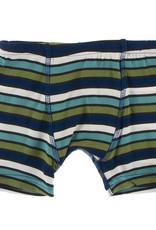 Kickee Pants Boxer Briefs Set Botany Grasshopper Stripe/Navy Leaf Lattice 2/3T, 3/4T