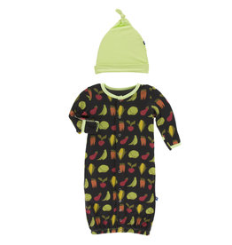 Kickee Pants Gown Converter Hat Set Garden Veggies 0/3M