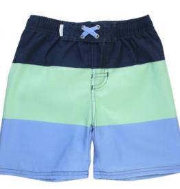 Ruffle Butts Color Block Swim Trunks 2T, 4T