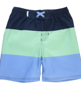 Ruffle Butts Color Block Swim Trunks 2T