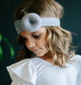 Mila & Rose Nylon Turban Style Headwrap Gray