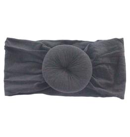 Mila & Rose Nylon Turban Headwrap Black