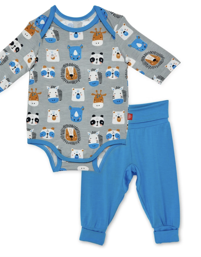 Magnetic Me Animal House Modal Bodysuit/Harem Pant 0/3M-6/9M