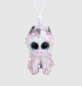 Ty Diamond Sequin White Unicorn Clip