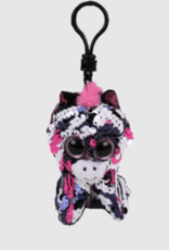 Ty Zoey Sequin Pink Zebra Clip