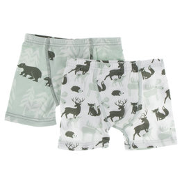 Kickee Pants Boxers Set Bears/Forest Animals 2/3T-3/4T
