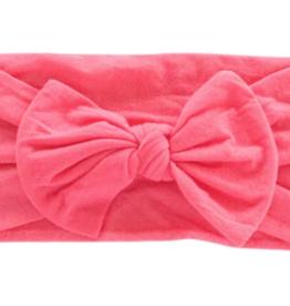 Mila & Rose Nylon Bow Headwrap Coral