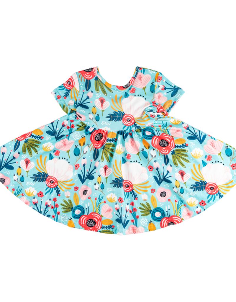 Mila & Rose Blue Peony S/S Twirl Dress 5/6, 7/8