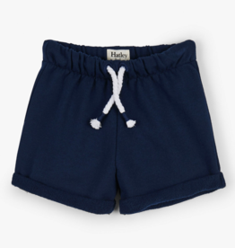 Hatley Navy French Terry Shorts 12/18M