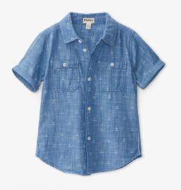 Hatley Chambray Anchors S/S Shirt 4T