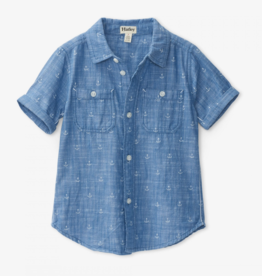 Hatley Chambray Anchors S/S Shirt 5-7