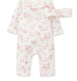 Little Me Cherry Blossom Coverall 2 pc 6M, 9M