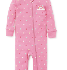 Little Me Rainbow Zip Front Coverall 12,18,24M
