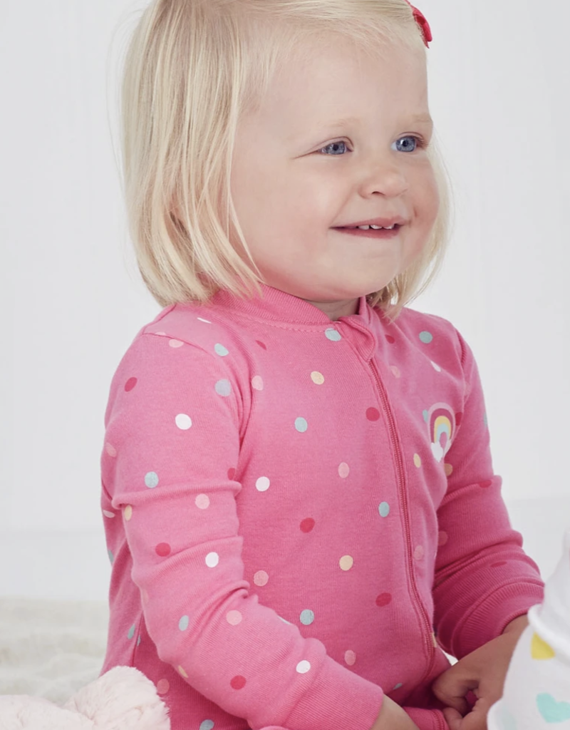 Little Me Rainbow Zip Front Coverall