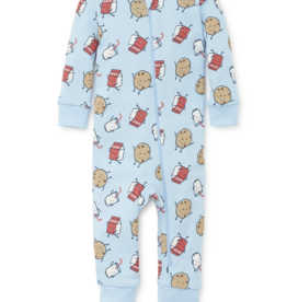 Little Me Cookie Zip Front Coverall 24M