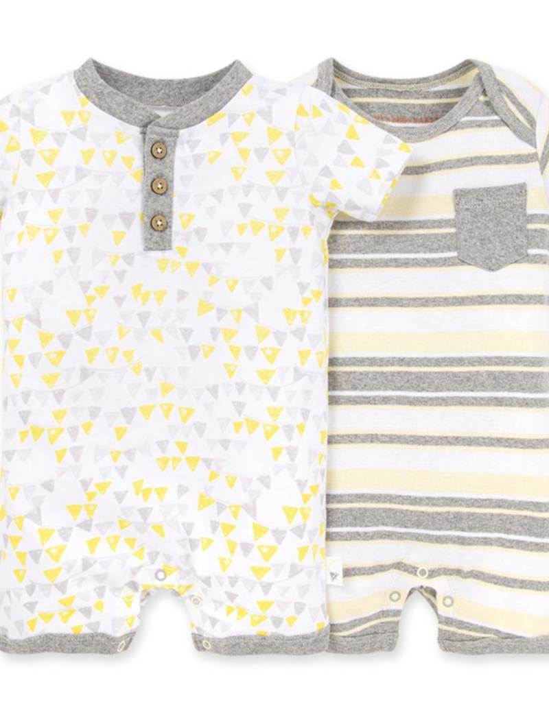 Burt's Bees 2 Pack Romper Set H. Grey