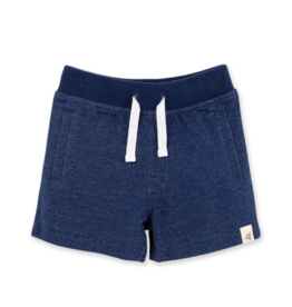 Burt's Bees French Terry Shorts Deep Ocean 12/18-18/24M