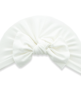 Baby Bling Bow Knot Turban Cream