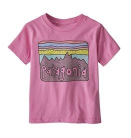 Patagonia Fitz Roy Skies Tee Marble Pink 2-5T