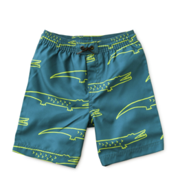 Tea Collection Full-Length Swim Trunks Crocodiles 2T, 3T
