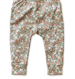 Tea Collection Ruffle Pants Cyprus Floral 12/18-18/24M