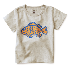 Tea Collection Something Fishy Graphic Tee 6/9M, 9/12M