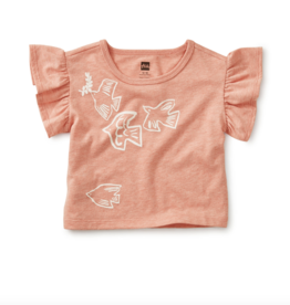 Tea Collection Birds Flying High Ruffle Tee 3/6, 9/12M