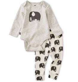 Tea Collection Bodysuit Outfit Elephant 6/9M