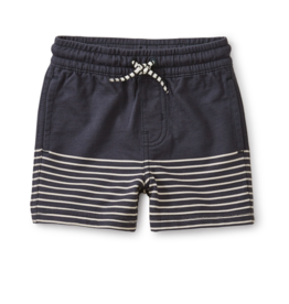 Tea Collection Knit Beach Shorts Indigo 9/12M
