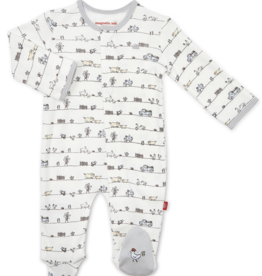 Magnetic Me Dig In Organic Cotton Footie 0/3,3/6,6/9M