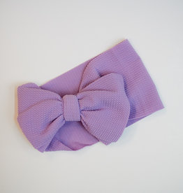 Bailey's Blossoms Messy Bow Headwrap Lilac