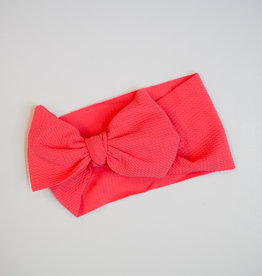 Bailey's Blossoms Messy Bow Headwrap Dark Coral