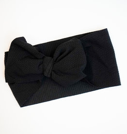 Bailey's Blossoms Messy Bow Headwrap Black